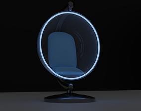 3D model Transparent Bubble hanging Chair