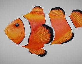 3D asset rigged Ocellaris Clownfish