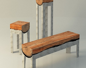 3D aluminum wood furniture