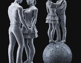 Kiss statue 3D model