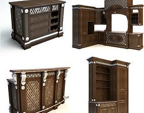 3D model Kitchen Cabinets set