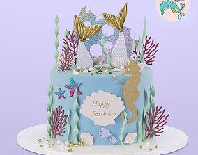 Mermaid Cake 3D asset
