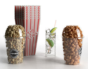 Popcorn and Gin Tonic 3D