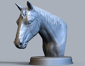 sculpture Horses head 3D print model