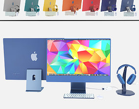 3D model Apple cet 2021 iMac 24 Air Pod MAX