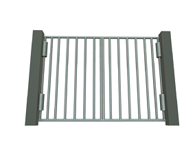 low-poly 3D Gate