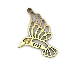 Bird pendant 3D print model jewelry