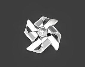 3D print model Pinwheel stud earrings
