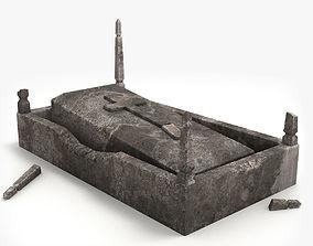 3D model Lowpoly Tombstne