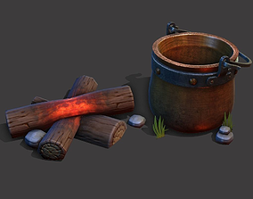 Camp Fire Cauldron 3D model