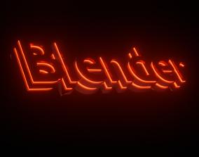 Blender Animation Logo 3D model
