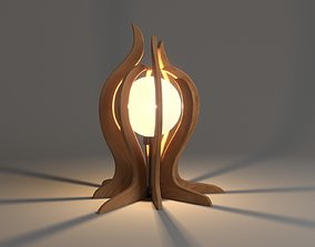 3D Wooden Garden And Table Lamp Design