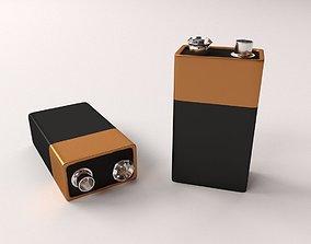Battery 9 Volt 3D model