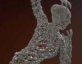 Ballerina Dancer Abstract Sculpture 7 3D model