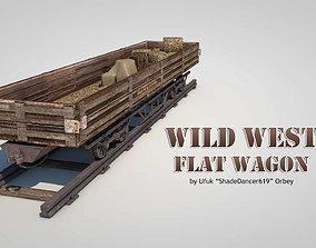 Wild West Flat Wagon 3D