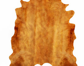 Brown Cowhide Rug 3D model