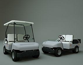 3D model rigged Golf Cart