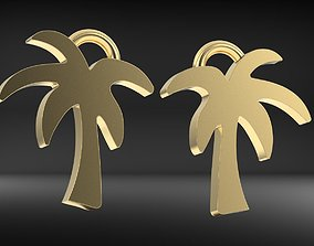 PALM TREE EARRING 3D printable model