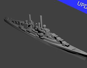 3D print model US Atlanta Class Cruiser Warship