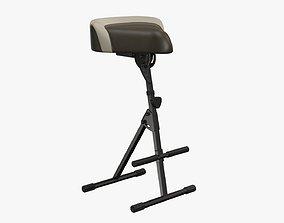 3D Piano stool adjustable 02