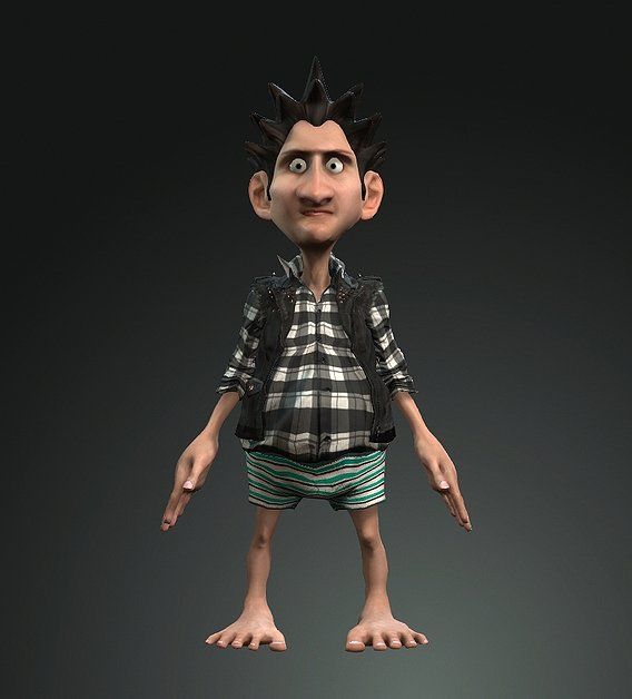 3d Funny Bona Character for move, animation and  short films