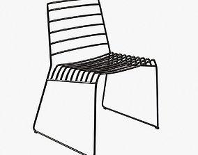 3D B-line park metal stackable chair