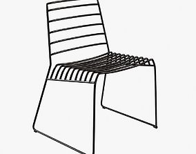 3D B-line park metal stackable chair