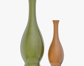 3D model Two Green and Brown Vases