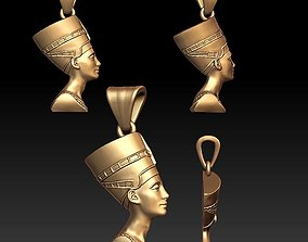 Queen Nefertiti pendant 3D printable model