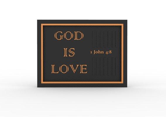 God Is Love Desk Photoframe
