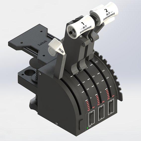 SPEEDBREAK EXTENSION FOR SAITEK THROTTLE 3D print model