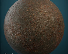 3D asset Rusted cast-iron seamless material