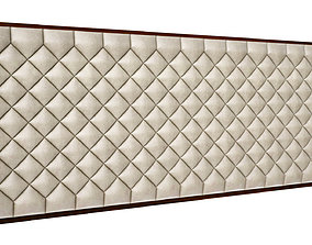 Bed Back Leather Upholstery 3D model