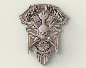 3D print model bas-relief Harley-Davidson