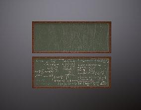 3D model Chalkboard GreeN Game Ready