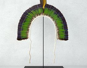 3D model 20th Century Brazilian Tribal Feather Headdress