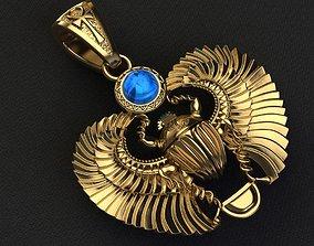 pendant scarab amulet 3D print model