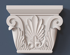 carved 3D model Pilaster Capital