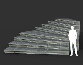 Low poly Ancient Roman Ruin Construction R5 - 3D model 1