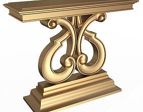 3D asset Luxury Console Table 01