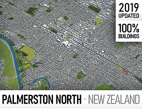 3D model Palmerston North - city and