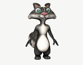 3D asset realtime Cartoon Skunk