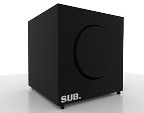 3D model game-ready wireless Speaker