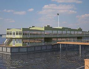 3D model Landing Stage Ship Hotel 1