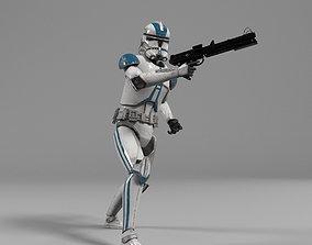 Clone Trooper Star Wars rigged 3D model