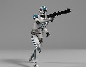 3D model Clone Trooper Star Wars rigged