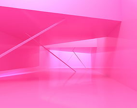 3D model Pink Room and Pink Background background