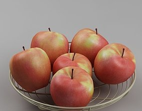 3D model Apples in the basket 05