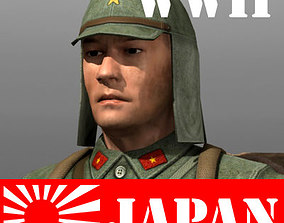 3D asset Japanese soldier and Type 100