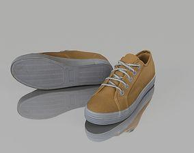 3D model VR / AR ready Casual shoes footwear